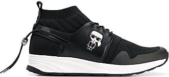 Karl Lagerfeld Tênis Vektor Knit Ikonik Runner - Preto