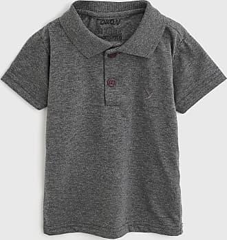 Elian Camisa Polo Elian Infantil Lisa Cinza