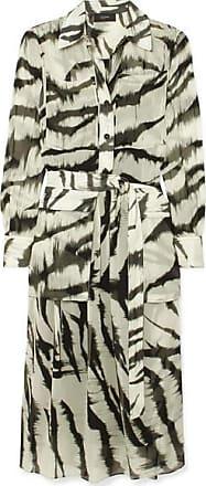 Joseph Seldon Zebra-print Silk Dress - Cream