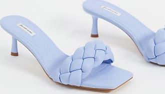Stradivarius Mules mit geflochtenem Design in Blau