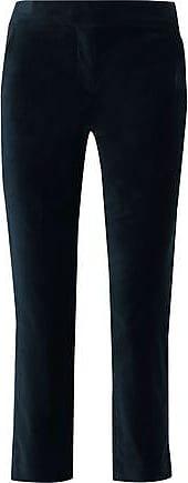 A.L.C. A.l.c. Woman Harrison Cropped Cotton-blend Velvet Slim-leg Pants Navy Size 12