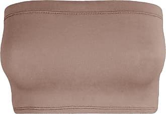 Janisramone Womens Ladies New Plain Boob Tube Strapless Bandeau Stretch Soft Elastic Vest Bra Crop Top