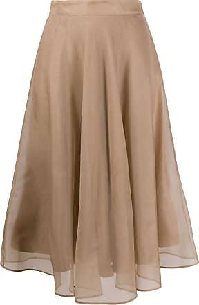 Msgm layered midi skirt - NEUTRALS