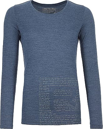 Ortovox 185 Merino Logo Tech Tee LS night blue blend