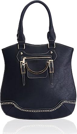 Eyecatch EyeCatch - Bucket Style Womens Tote Bag Ladies Handbag Black