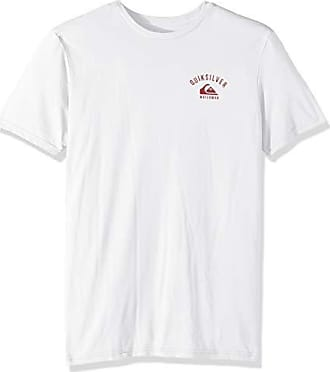 Quiksilver Mens Stacked UP TEE Shirt, White, L
