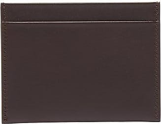 The Row Leather Cardholder - Mens - Brown