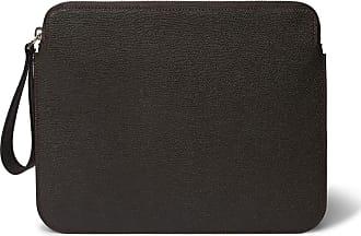 Valextra Pebble-grain Leather Ipad Case - Dark brown
