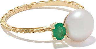 Wouters & Hendrix 18kt yellow gold Emerald & Pearl ring