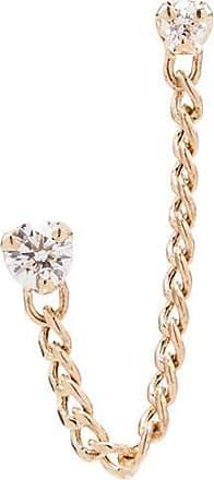 Zoë Chicco Brinco único de ouro 14k com diamante - YELLOW GOLD
