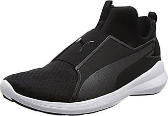 f4f140c780 Puma Rebel Mid, Baskets Hautes Femme, Noir Black-White, 40 EU