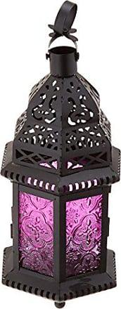 Zingz & Thingz Magenta Moroccan Candle Lantern
