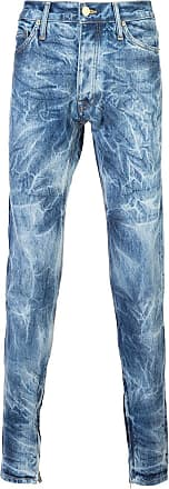 Fear of God Blue Indigo Bleached Effect Slim-fit Jeans - The Webster