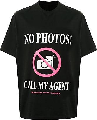 Ground-Zero Camiseta No Photos com mangas curtas - Preto