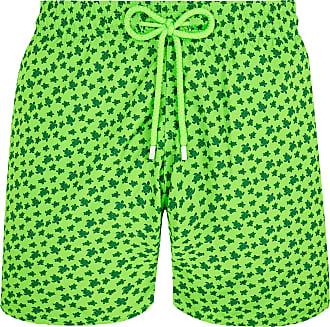 Vilebrequin Grüne Polyester Micro Ronde Des Tortues Fluor Mahina Badeshorts - polyester | green | xxl - Green/Green