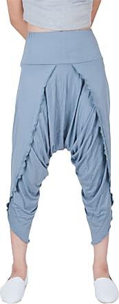 Lofbaz Womens Harem Yoga Palazzo Pants Hybrid Spendex Pants Grey Size XL