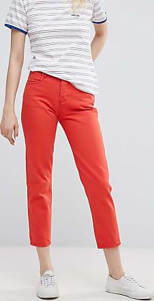 Wrangler Jeans dritti al polpaccio-Rosso