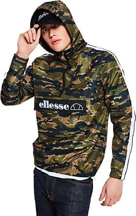Ellesse Mont II 1/4 Zip Front Popover Jacket Camo - XL
