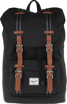 Herschel Backpacks - Little America Mid Volume Backpack Black Tan - black - Backpacks for ladies