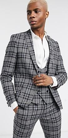 Twisted Tailor Giacca da abito grigio a quadri