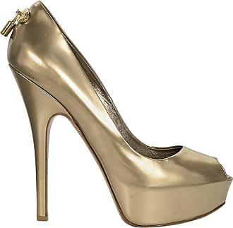 13282309e541 Louis Vuitton Metallic Gold Louis Vuitton Leather Platform Pumps