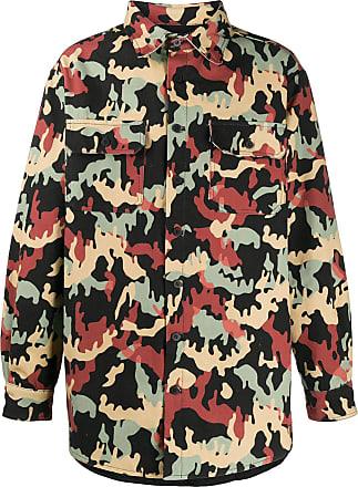 424 Hemd mit Camouflage-Print - Grün
