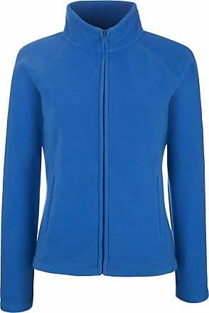 Fruit Of The Loom Ladies Lady Fit Full Zip Fleece Jacket Royal Blue