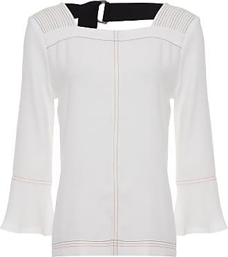 Shoulder Blusa Crepe Shoulder - Off White