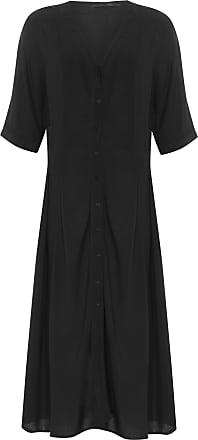 Cantão Vestido Amarração Básico - Preto