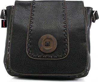Your Dezire Womens Designer Button Style Messenger Satchel Crossbody Bag Ladies Shoulder Handbag (Black)