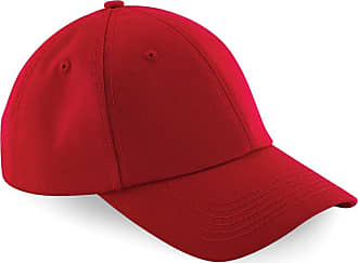 Beechfield Unisex Authentic 6 Panel Baseball Cap (One Size, Classic Red)