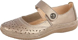 Boulevard Womens Leather Wide EEE FIT Velcro Casual Shoes Size 4-9 Bronze (5)