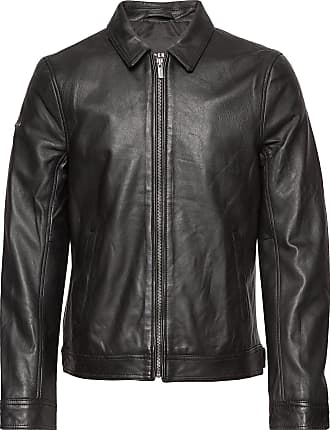 Superdry Curtis Light Leather Jacket Läderjacka Skinnjacka Svart Superdry