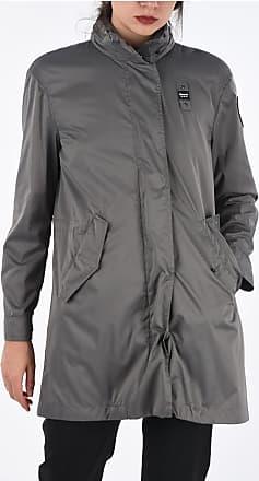 Blauer Hooded Raincoat Trench Größe Xxl