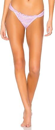 PilyQ Lace Fanned Teeny Bikini Bottom in Lavender