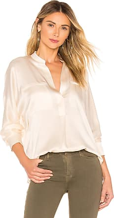 Vince Collar Band Blouse in Cream