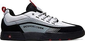 DC Mens Legacy 98 Slim Skate Shoe, Black/White/red, 14 M US