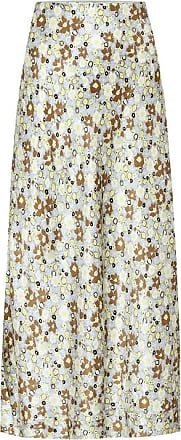 Lee Mathews Bella floral silk-satin midi skirt