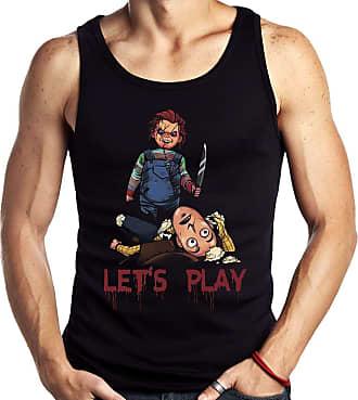 Dragon Store Camiseta Regata Lets play Boneco Assassino Parodia Chucky Sem Manga