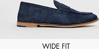 Kurt Geiger KG by Kurt Geiger wide fit loafer in navy suede