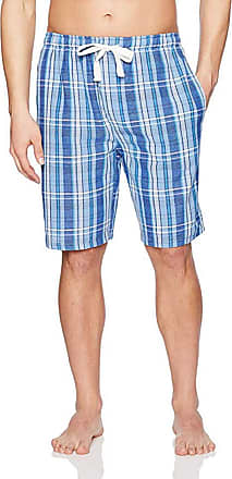 Jockey Mens Sleep Short (Navy/White/Blue Plaid, 4XL)