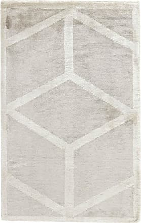 Nain Trading 91x59 Design Gabbeh Edel Line Rug Grey/Beige (Indien, Bamboo Silk, Hand-Knotted)