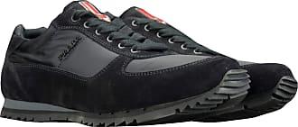 Prada Shoes 4E2721 Black New Mens Sneakers Suede Nylon Size 11.5 UK (45.5)