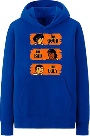 Haililais Captain Tsubasa Pullover Hoodie Plus Velvet Long Sleeve Tops Popular Sweatshirt Leisure Printed Pullover with Pocket Unisex (Color : Blue01, Size : He