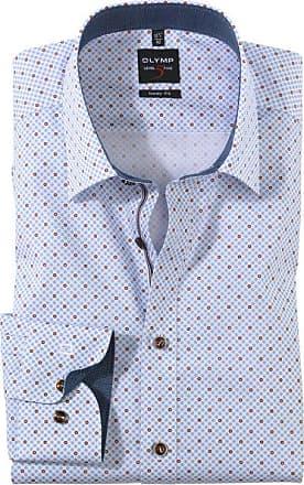Olymp Level Five Hemd, body fit, New York Kent, Nougat, 37