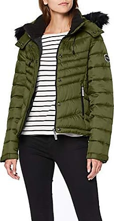 Giacche Superdry Oliva Luxe Fuji Zip Hooded Donna Saldi