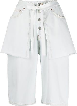Maison Margiela Short jeans com efeito de sobreposição - Branco