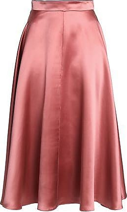 e9060adaa008 Roksanda Ilincic Roksanda Woman Branca Flared Silk-satin Skirt Antique Rose  Size 14