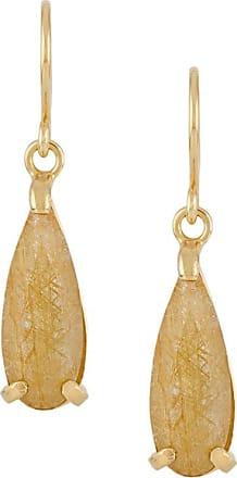 Wouters & Hendrix Rutilated Quartz drop earrings - GOLD