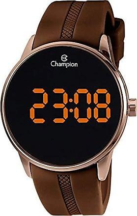 Champion Relógio Champion Digital Ch40188r Chocolate Digital 5 Atm Cristal Mineral Tamanho Grande